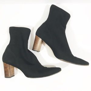 Gucci black stretch ankle booties